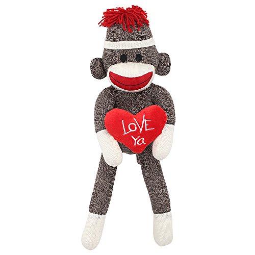 Love Ya Sock Monkey Plush Classic Styled Collectible Doll