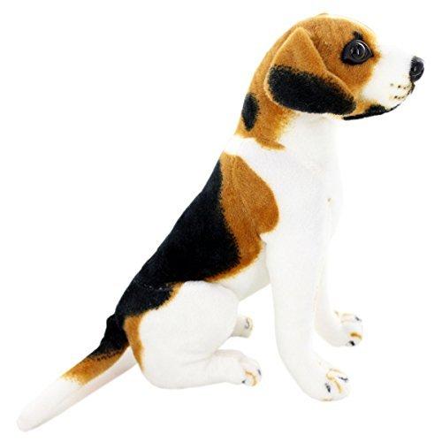 Jesonn Realistic Stuffed Animals Sitting Beagle Plush Toy Dog10 or 25CM1PC by Jesonn