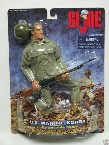 1998 HASBRO GI JOE US MARINE KOREA 12 FULLY POSABLE ACTION FIGURE ON CARD