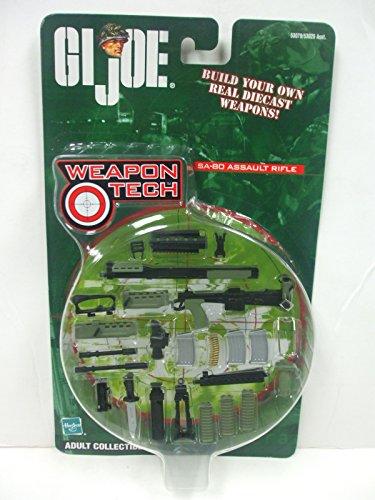 Hasbro GI Joe Weapon Tech - SA-80 Assault Rifle Diecast Replica Set for use with 12  16 Scale Figures