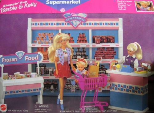 Barbie Shoppin Fun Barbie Kelly Supermarket Playset 1996 Arcotoys Mattel