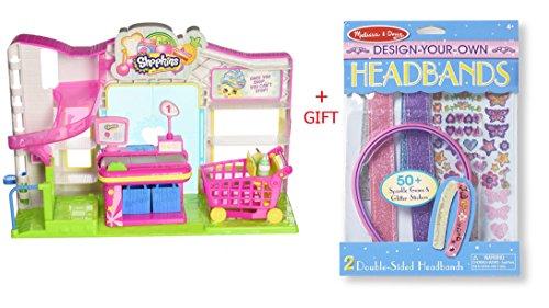 Shopkins Kids Supermarket Playset DYO Headbands Playset