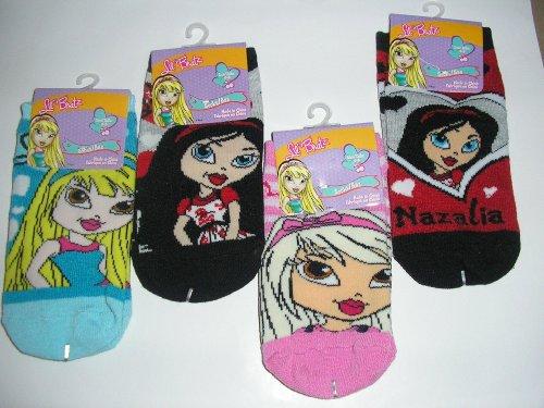 Lil Bratz Childrens Socks Size 6-8 ~ Two Assorted Pairs