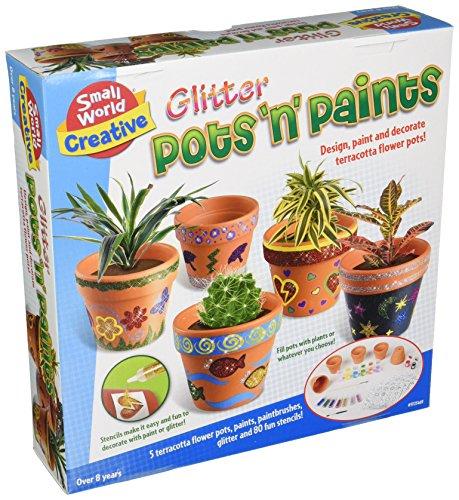 Small World Toys Creative - Glitter Pots N Paints Craft Kit