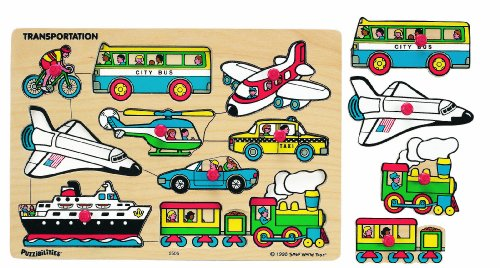 Small World Toys Ryans Room Wooden Puzzle - Classic Transportation