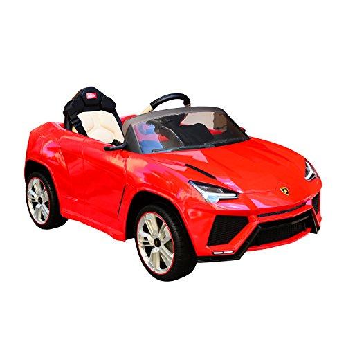 Aosom 12V Lamborghini Urus Kids Electric Ride On Car with Remote Control - Red
