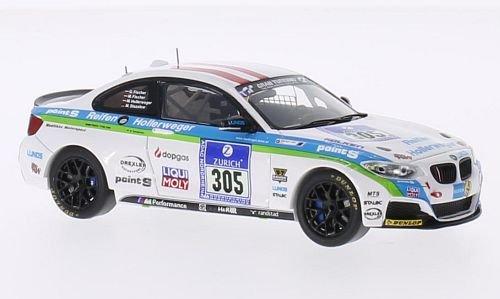 BMW M235i F22 No305 Medilikke Motor Sport 24h Nurburgring 2014 Model Car Ready-made Spark 143