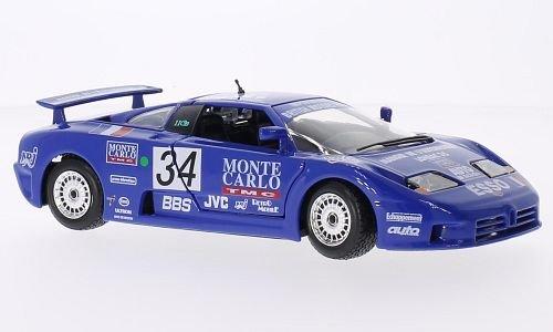 Bugatti EB 110 super sport No34 24h Le Mans 1990 Model Car Ready-made Bburago 124
