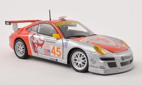 Porsche 911 997 GT3 RSR No45 Flying Lizard Motorsports ALMS  Model Car Ready-made Bburago 124