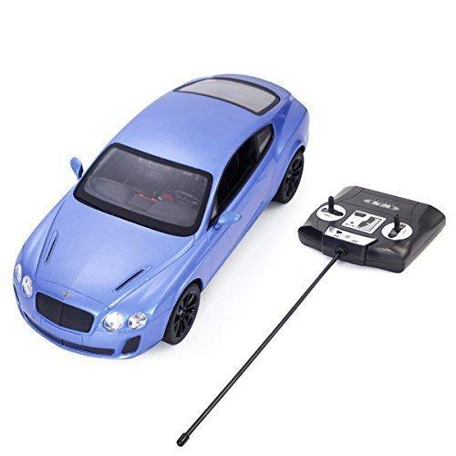 Safstar 114 4CH Radio Remote Control Bentley Continental GT Supersports Model Car Blue by Safstar