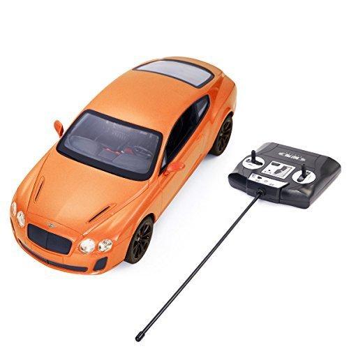 Safstar 114 4CH Radio Remote Control Bentley Continental GT Supersports Model Car Orange