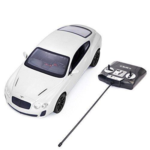 Safstar 114 4CH Radio Remote Control Bentley Continental GT Supersports Model Car White