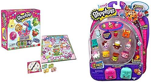 Shopkins Supermarket Scramble Game with Season 5 12-Pack Shopkins Bundle