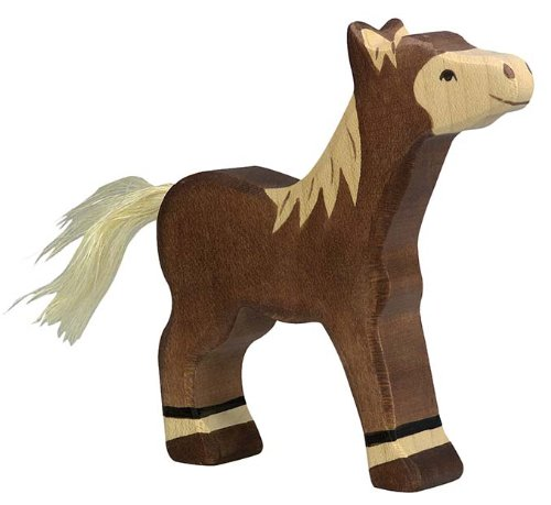 Holztiger Colt Standing Toy Figure Dark Brown
