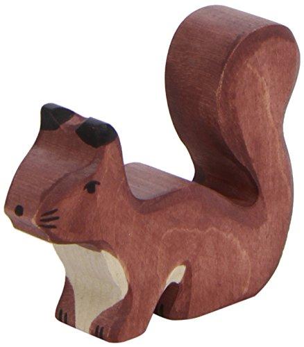 Holztiger Squirrel Standing Toy Figure Brown