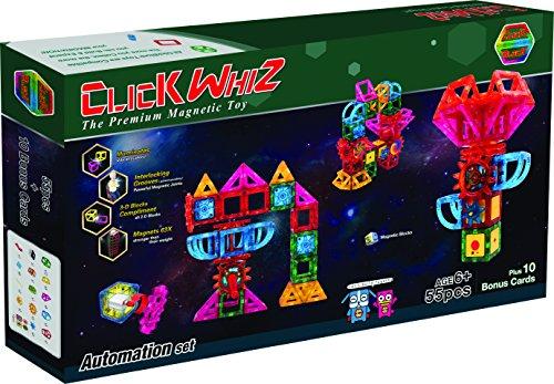 ClickBlock 3-D Magnetic Construction Toy Automation Set 55 piece