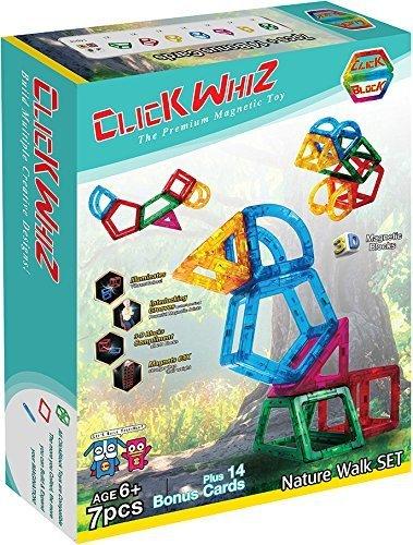 ClickBlock ClickWhiz 3-D Nature Walk Set Premium Magnetic Construction Toy