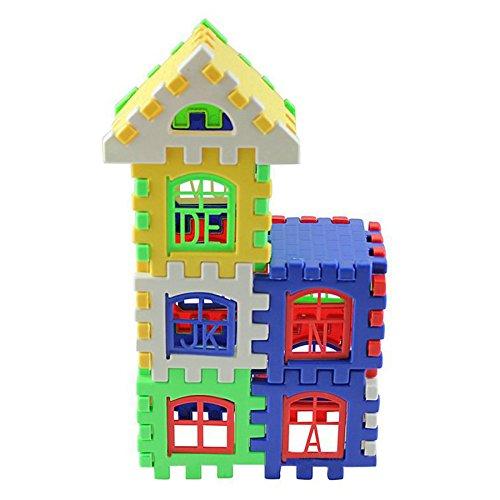 Farook-24pcs Baby House Building Blocks Construction Toy Kids