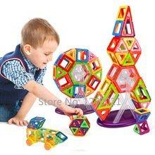 Mini Magnetic Designer Construction Toy Kids Educational Toys Plastic 108PCS