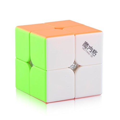 D-FantiX Qiyi Stickerless 2x2 Speed Cube Puzzle Magic Cube 2x2x2