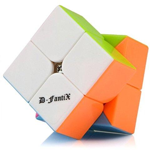 D-FantiX Speed Cube 2x2 Stickerless Magic Cube 2x2x2 Puzzles Cube