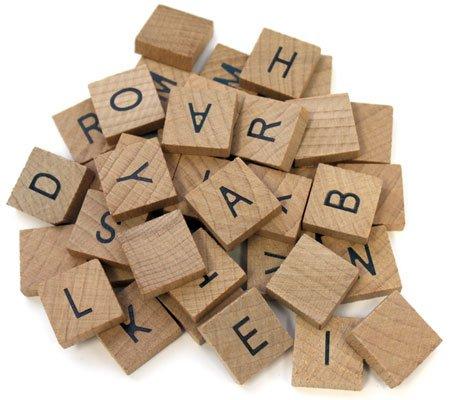 40 Pc Wooden Alphabet Tile Set Common Alphabet Crafts Scrapbooking Tiles 34in